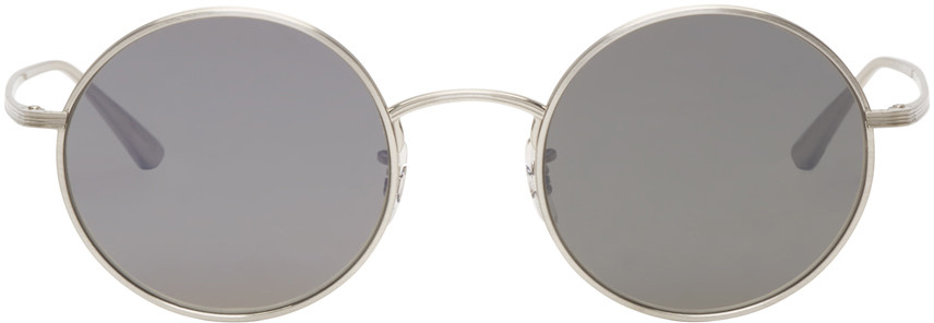 Oliver Peoples The Row Silver Round After Midnight Sunglasses