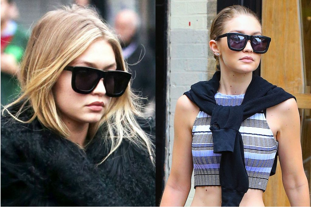 This Week Celebrity Eyewear Trend Spotting Sienna Miller Celine Dion in Dior Chrissy Teigen Miranda Kerr Gigi Hadid