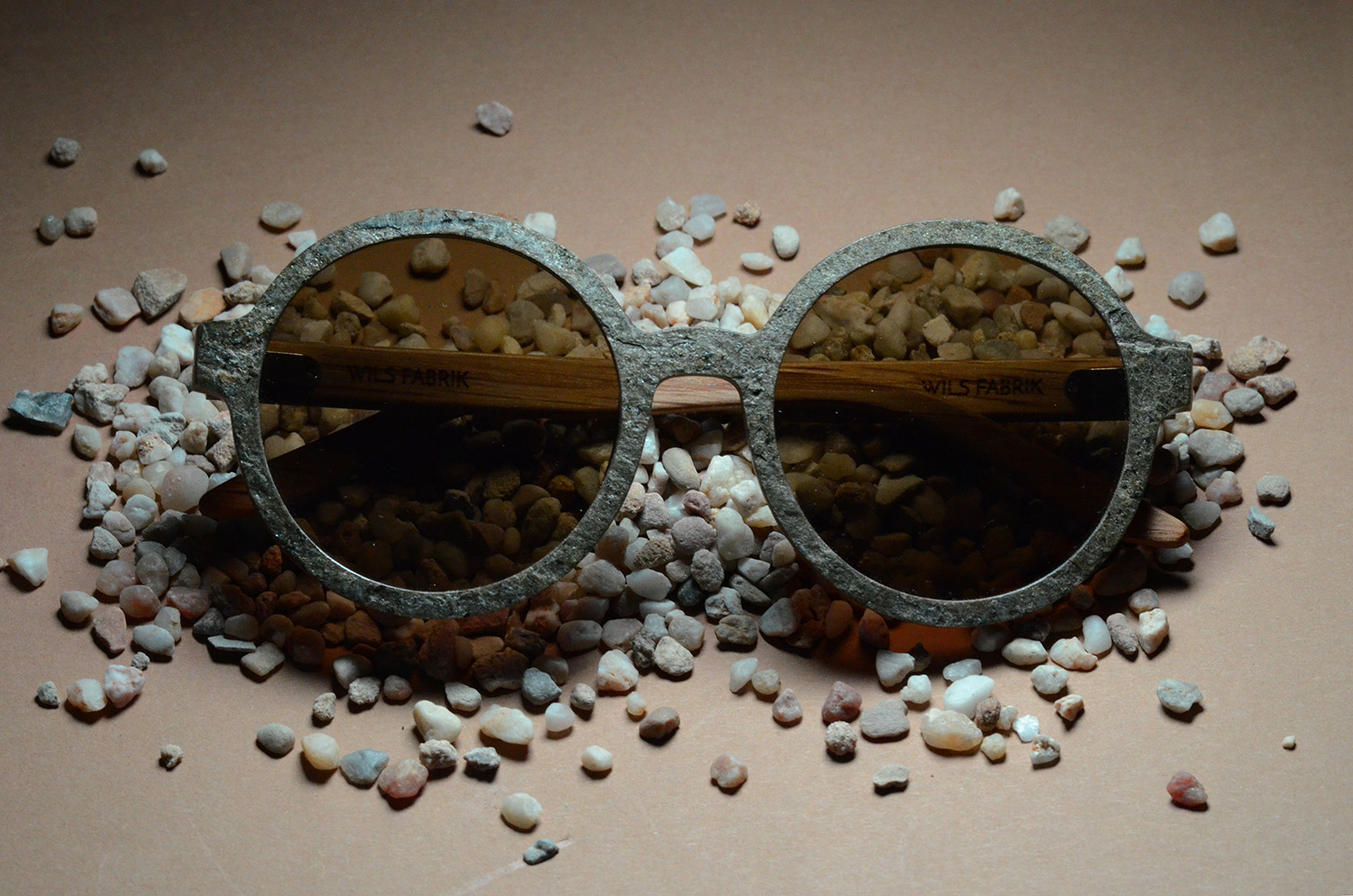 Sustainable Stone Sunglasses Kickstarter Campaign by Wils Fabrik