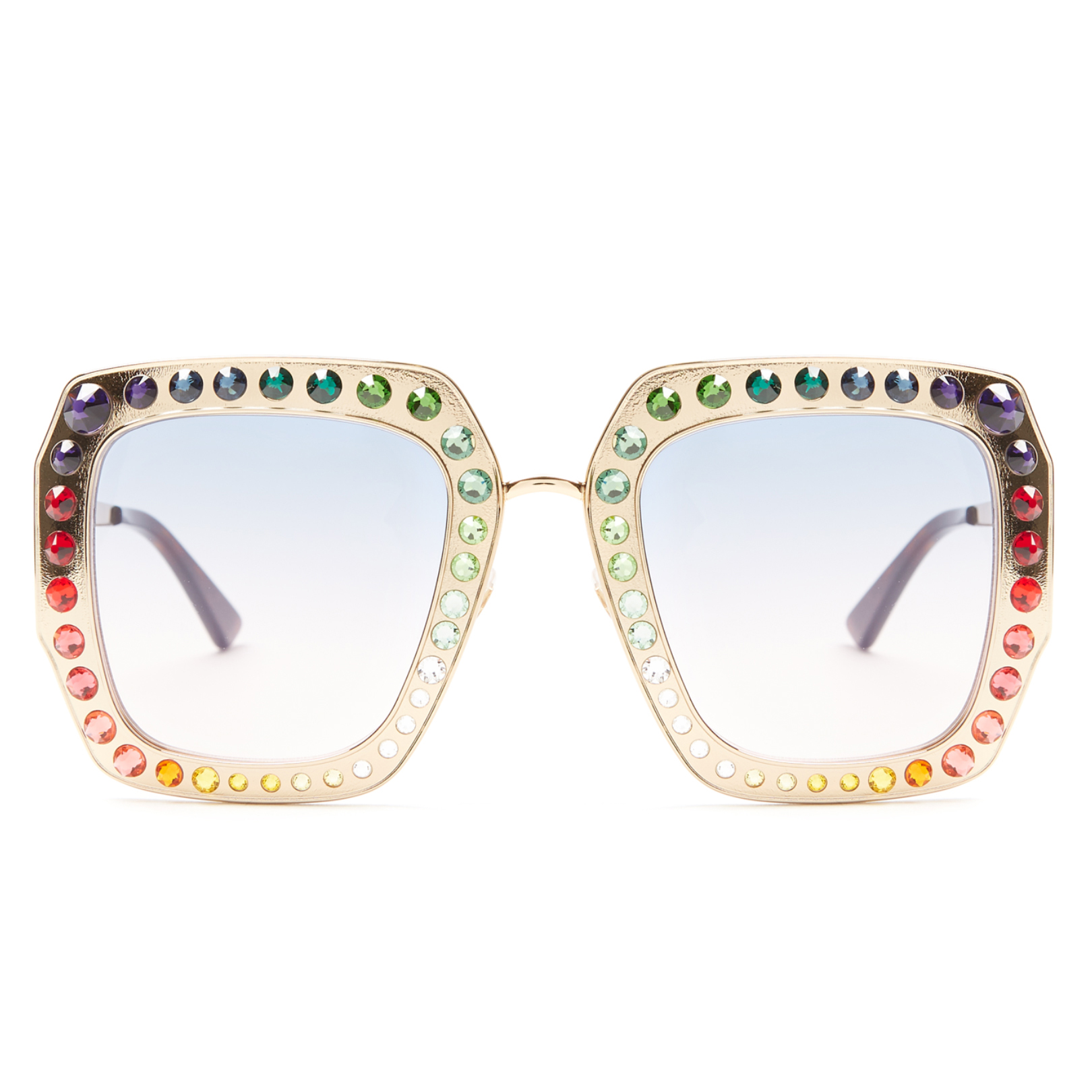 Guess Where Rihanna's Crop Over Glasses Are From? Embellished Sunglasses Gucci Buy Online