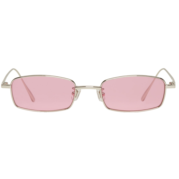Buy Gentle Monster Sunglasses Eyeglasses Prescription Eyewear Sunglasses Wooden Glasses Online Shop About Silver & Pink Palabra Sunglasses