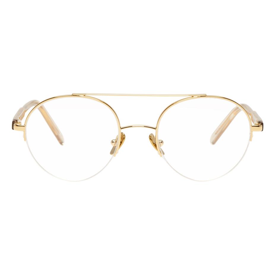 Shop Buy Online Super SSENSE Exclusive Blue Numero 40 Glasses