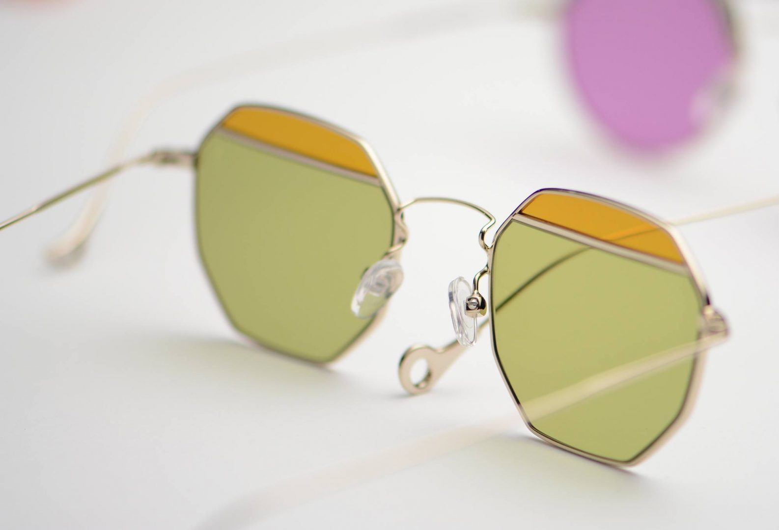 Current Obsession Peculiar Colour Blocking Sunglasses by Eyepitizer Buy Shop Online Colour Lenses Trend 2018 Eyeglasses Cheap Designer