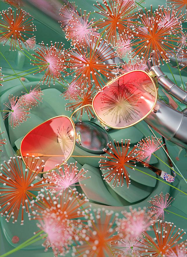 Ada Sokól's 3D Photorealism For Etnia Barcelona Latest Collection Eyewear Glasses Sunglasses Eyeglasses