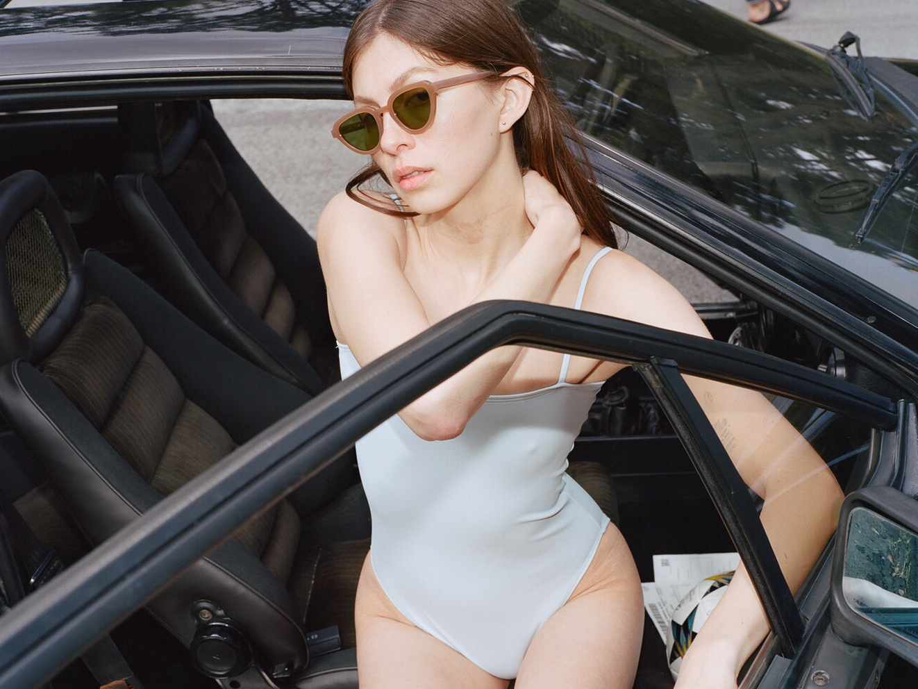 Lowercase NYC x NU Swimwear Collaboration Sunglasses Collection Brooklyn Based Designer