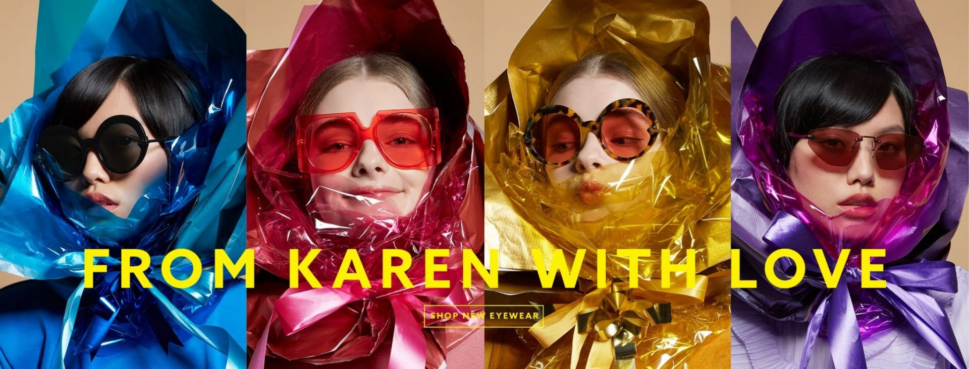 SWEET CAT AUBERGINE karen walker sunglasses latest collection sunglasses eyewear karen walker