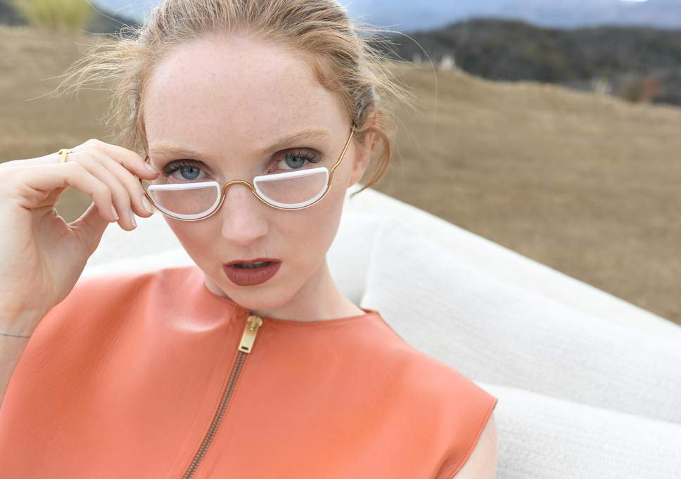 Lily Cole's Latest Sustainable Eyewear Brand, Wires London Selfridges Sustainable Metal Glasses Eyewear