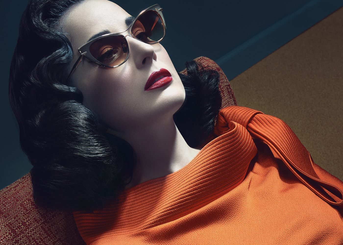 SEEING DOUBLE IN DITA EYEWEAR FOR DITA VON TEESE