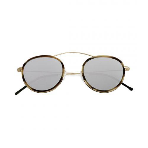 MET-RO 2 FLAT Gold / Havana Caffe Latte / Silver Mirror – Flat Lenses