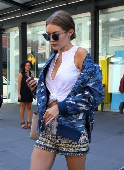 Celebrity Eyewear Street Style at Fashion Week Glasses Trend Gigi Hadid Kendall Jenner Victoria Beckham Rihanna