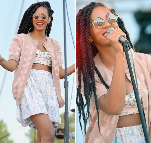 You Can't Beat Solange Knowles Eyewear Game Celebrity Glasses Style